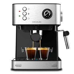 Cecotec Máquina de Café Expresso Manual Power Espresso 20 Professionale 1,5 L Prateado Preto