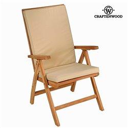 Cadeira reclinável natural teca by Craftenwood