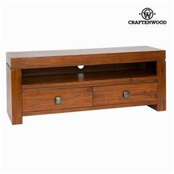 Mesa de TV Madeira de cedro (130 x 40 x 52 cm) - Nogal Coleção by Craftenwood