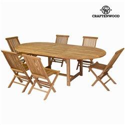 Tavolo estensibile e 6 sedie by Craftenwood