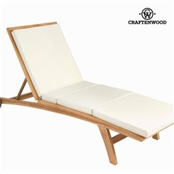 Teak lounger with cushion by Craftenwood