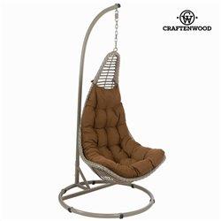 Cesto pendente marrom by Craftenwood