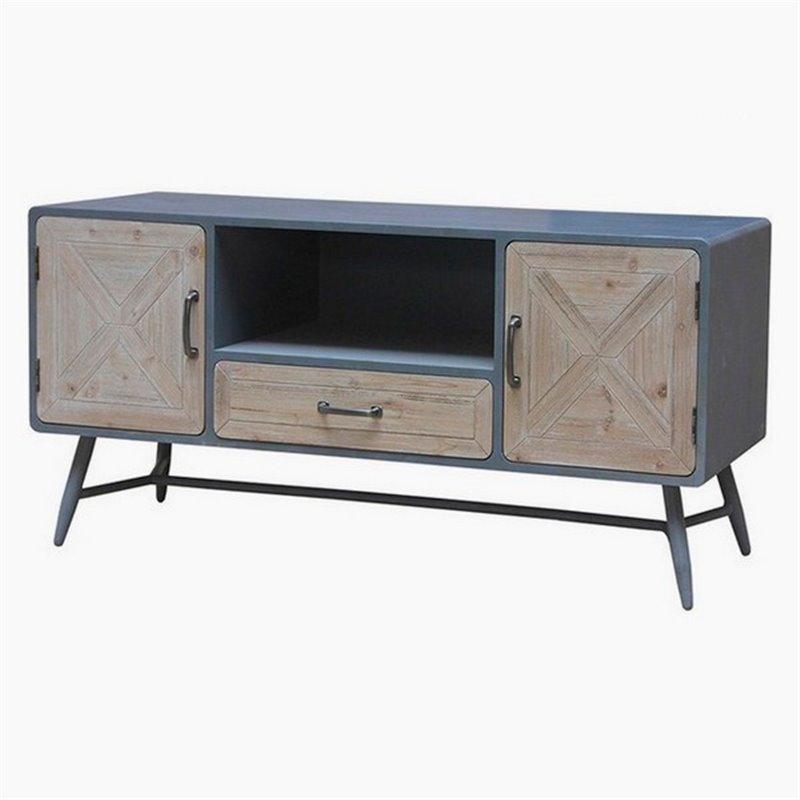 Tavolino X Tv.Tv Table Fir Wood Iron 120 X 43 X 58 Cm Tv Furniture And Stands