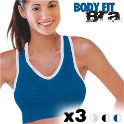 Soutiens Gorge de Sport Body Fit Bra (Pack de 3) S