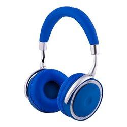 CoolBox COO-AUB-12BL casque et micro Binaural Bandeau Bleu, Blanc