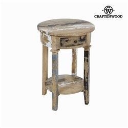 Pedestal redondo decapado - Poetic Coleção by Craftenwood