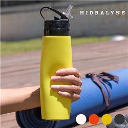 Hidralyne Silikonflasche für Sportler Schwarz