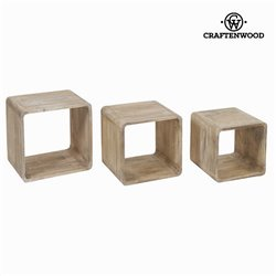 Cubes Mindi wood (3 pcs) - Pure Life Collection by Craftenwood