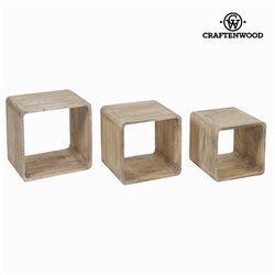 Cubi Legno di mindi (3 pcs) - Pure Life Collezione by Craftenwood