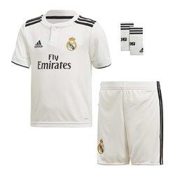 Set di Attrezzatura da Calcio per Bambini Adidas Real Madrid Bianco 18/19 (1ª) (3 Pcs) 10-12 Anni