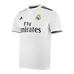 Maglia da Calcio a Maniche Corte Uomo Adidas Real Madrid Bianco 18/19 (1ª) L