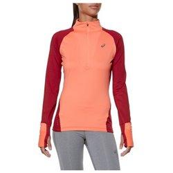 Asics Women's Long Sleeve T-Shirt LS Winter 1/2 Zip Coral (Size l - us)