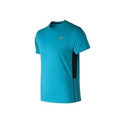New Balance Men's Short Sleeve T-Shirt ACCELERATE Blue XL