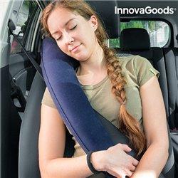 InnovaGoods Almohada de Viaje Hinchable con Sujeción para Asientos