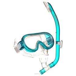 Occhialini da Snorkeling e Boccaglio per Bambini Tusa Sport Mini Platina Vetro temperato Azzurro