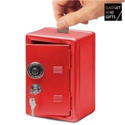 Metal Savings Bank Vault Red