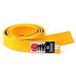 Cintura Arti Marziali Noris Competition Unisex Cotone Giallo 2,4 m