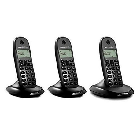 Telefono Senza Fili Motorola E07000D48B3AES03 (3 Pcs) Nero
