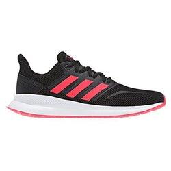 Adidas Sapatilhas de Running para Adultos Runfalcon 40 2/3 Preto/Rosa claro