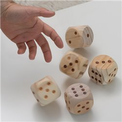Giant Wooden Dice Set (5 Pieces)
