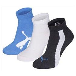 Puma Meias de Desporto LIFESTYLE (3 Pares) Azul Branco Azul escuro 31-34