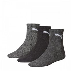 Puma Sports Socks SHORT CREW (3 Pairs) Grey 35-38