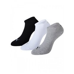Puma Ankle Sports Socks SNEAKER (3 Pairs) Grey White Black 35-38