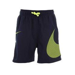 Nike Bañador Infantil 4 Volley Short Verde Negro L
