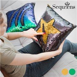 Cuscino Sirena con Federa Magica di Paillettes Sequeens Verde