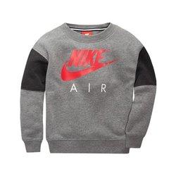 Nike Sweat sans capuche enfant 376S-GEH Gris Rouge 4-5 ans