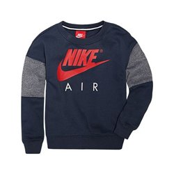 Nike Sweat sans capuche enfant 376S-U2Y Blue marine Rouge 4-5 ans