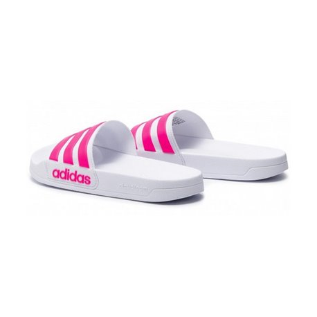 Adidas Women's Flip Flops Adilette Shower White Pink 44 2/3 Flip-flops and clogs for swimming
