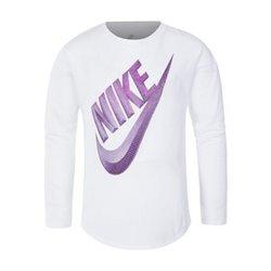 Maglia a Maniche Lunghe Nike C489S Bambina Bianco 3-4 Anni