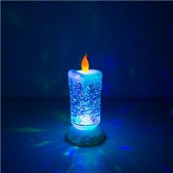 Homania Multicolor LED-Kerze mit beweglicher Flüssigkeit und Glitter