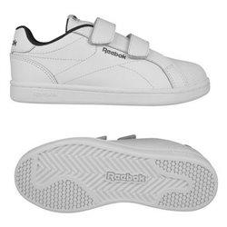 Reebok Scarpe da Tennis Casual Bambino Royal Complete Clean Velcro Bianco 34,5