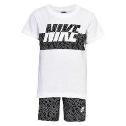 Completo Sportivo per Bambini Nike 926-023 Bianco Nero Taglia - 12 Mesi
