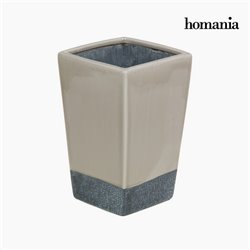 Ceramic vase beige and gray by Homania