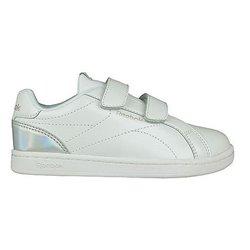 Scarpe da Tennis Casual Bambino Reebok Royal Complete Clean Velcro Bianco Argentato 30