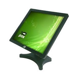 "Monitor con Touch Screen 10POS TS-19V 19"" LCD Nero"