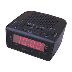 Sunstech Rádio Despertador FRD18BK Preto