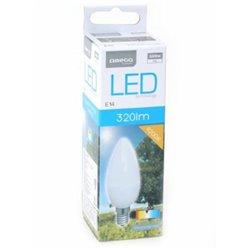 Lâmpada LED vela Omega E14 4W 320 lm 4200 K Luz Natural