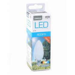 Lâmpada LED vela Omega E14 5W 400 lm 6000 K Luz Branca