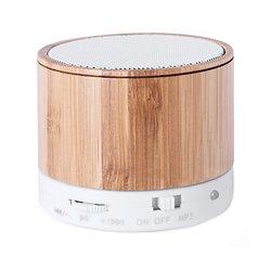 Altoparlanti Bluetooth Senza Fili USB FM 3W Bambù 146143 Naturale