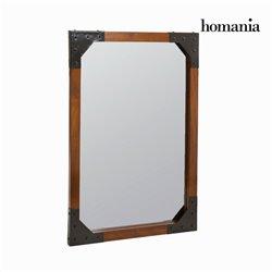 Specchio a muro legno e metallo - Franklin Collezione by Homania