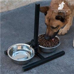 Doppia Ciotola per Cani Regolabile Pet Prior