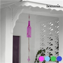 Homania Crystal Bottle Wind Chime Blue