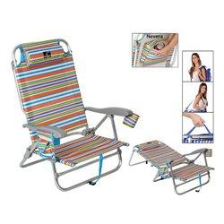 Sedia Pieghevole 118499 Alluminio Multicolore