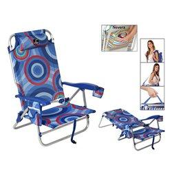 Sedia Pieghevole 118505 Azzurro