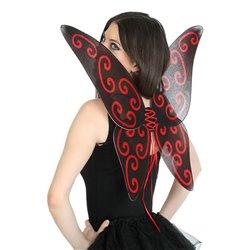 Ali di Farfalla 112742 Nero Rosso