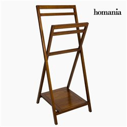 Porte Serviettes sur Pied Bois - Collection Nogal by Homania
